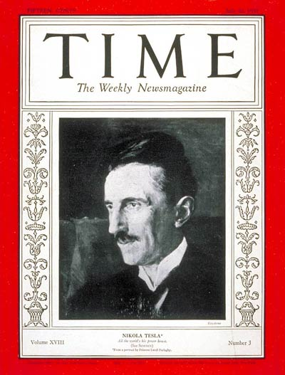 Nikola Tesla on the cover of Times in the occasion of his 75th birthdayNikola Tesla on the cover of Times in the occasion of his 75th birthday
