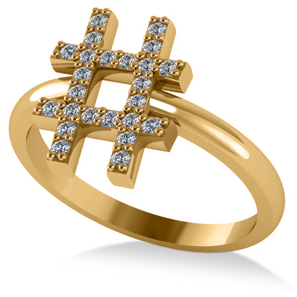 Hashtag Diamond Fashion Ring
