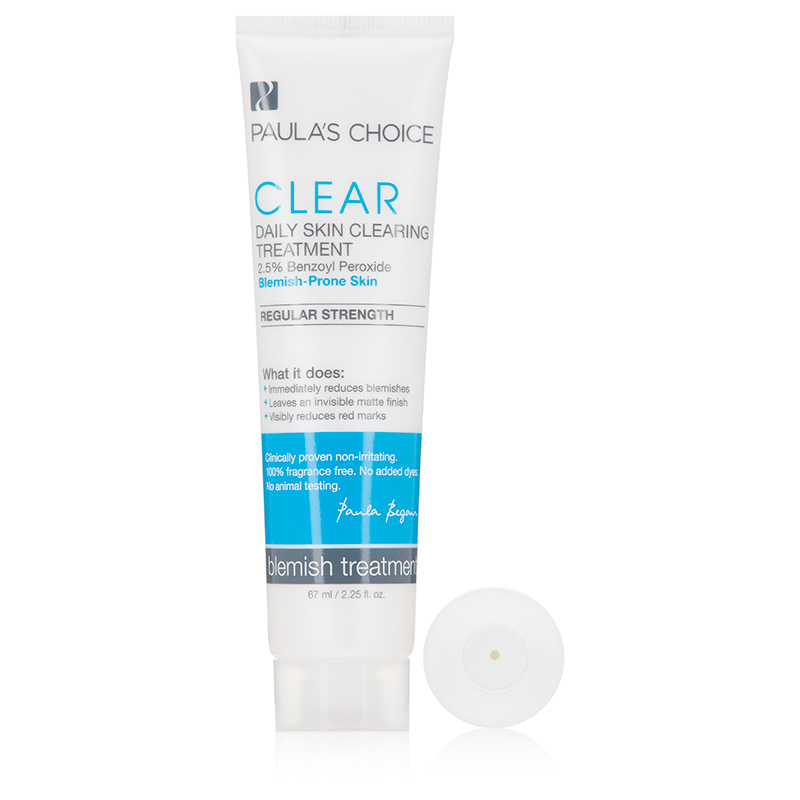 Paulas Choice CLEAR Regular Strength Daily Skin Clearing Treatment with 2.5% Benzoyl Peroxide