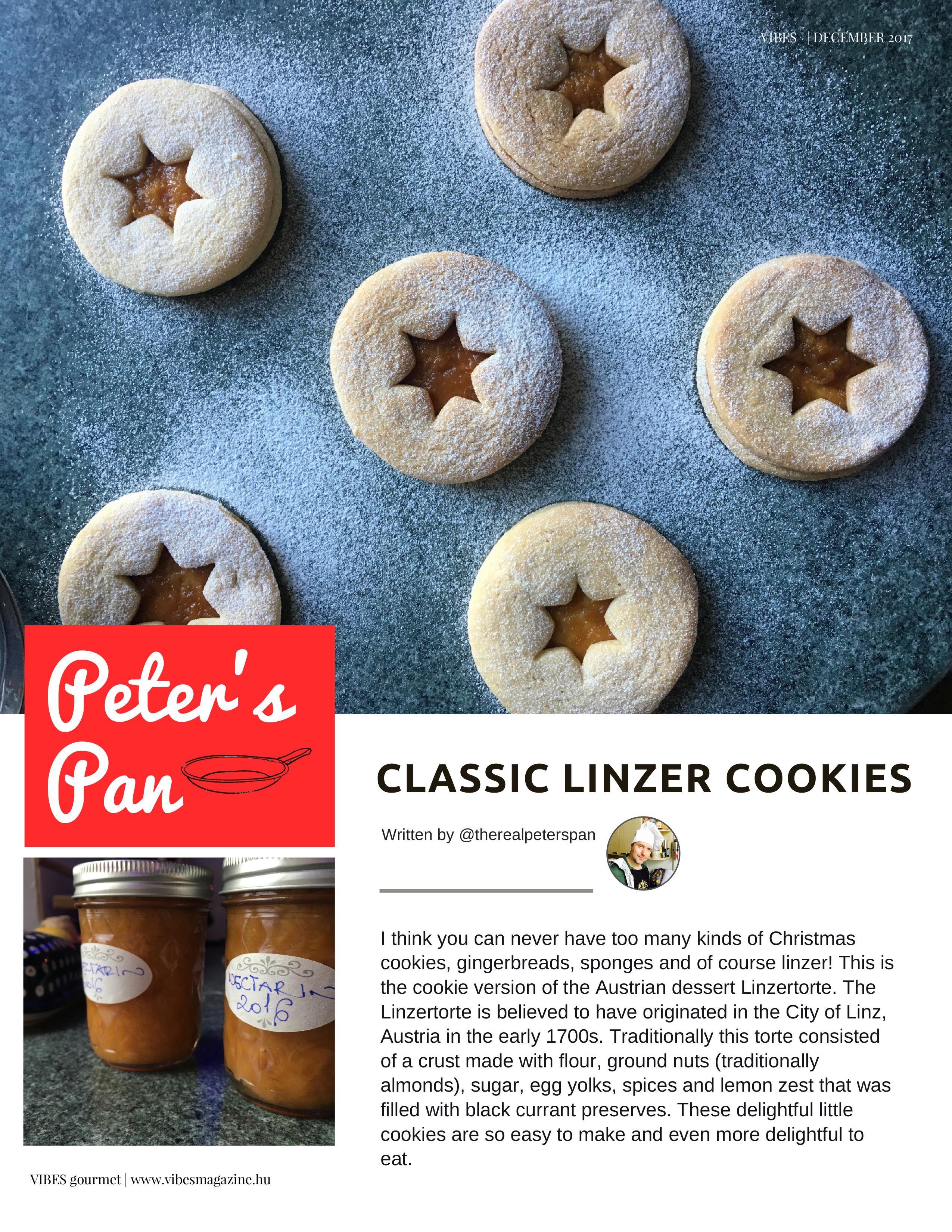 Peter's Pan: Classic linzer cookies - December 2017 VIBES
