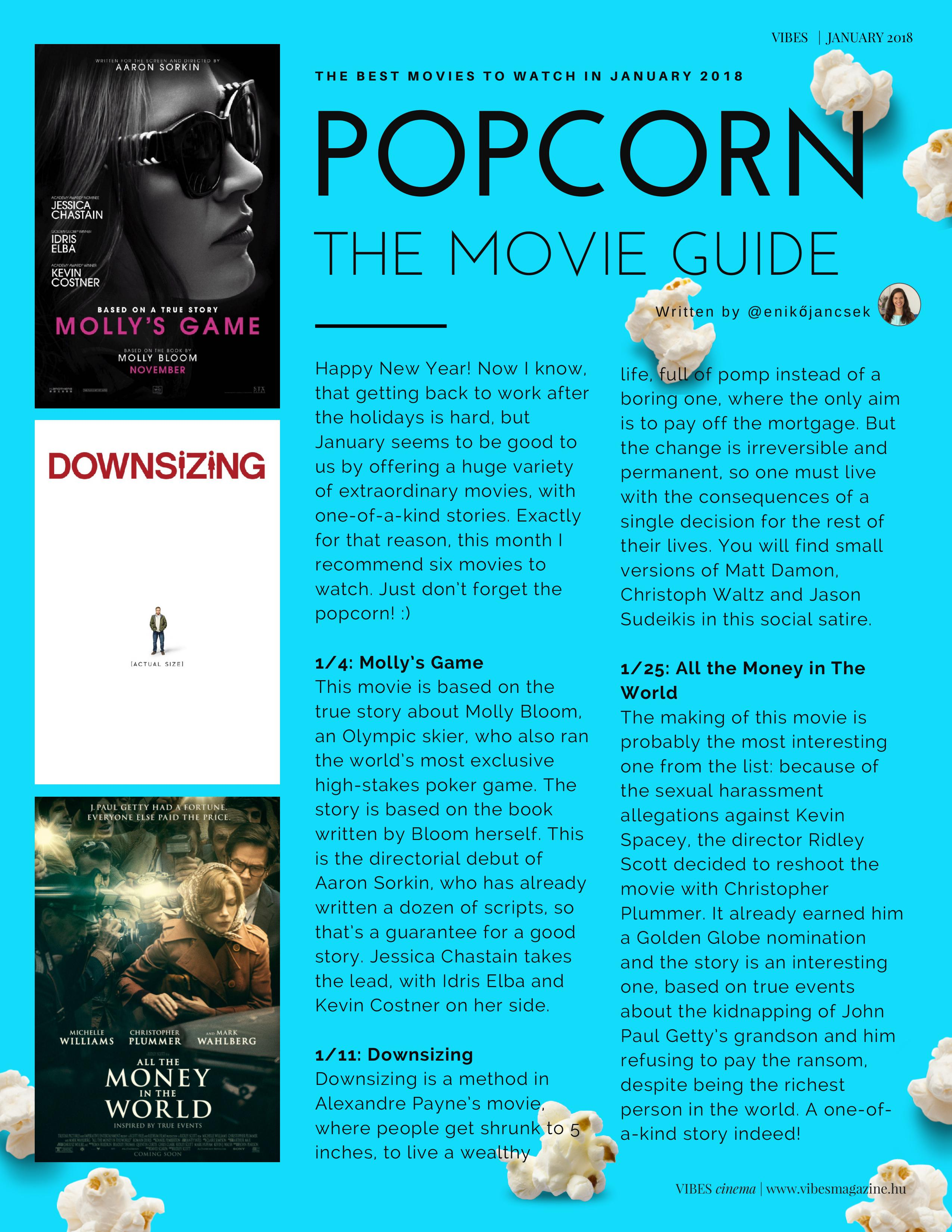 Popcorn - The Movie Guide Vibes January 2018