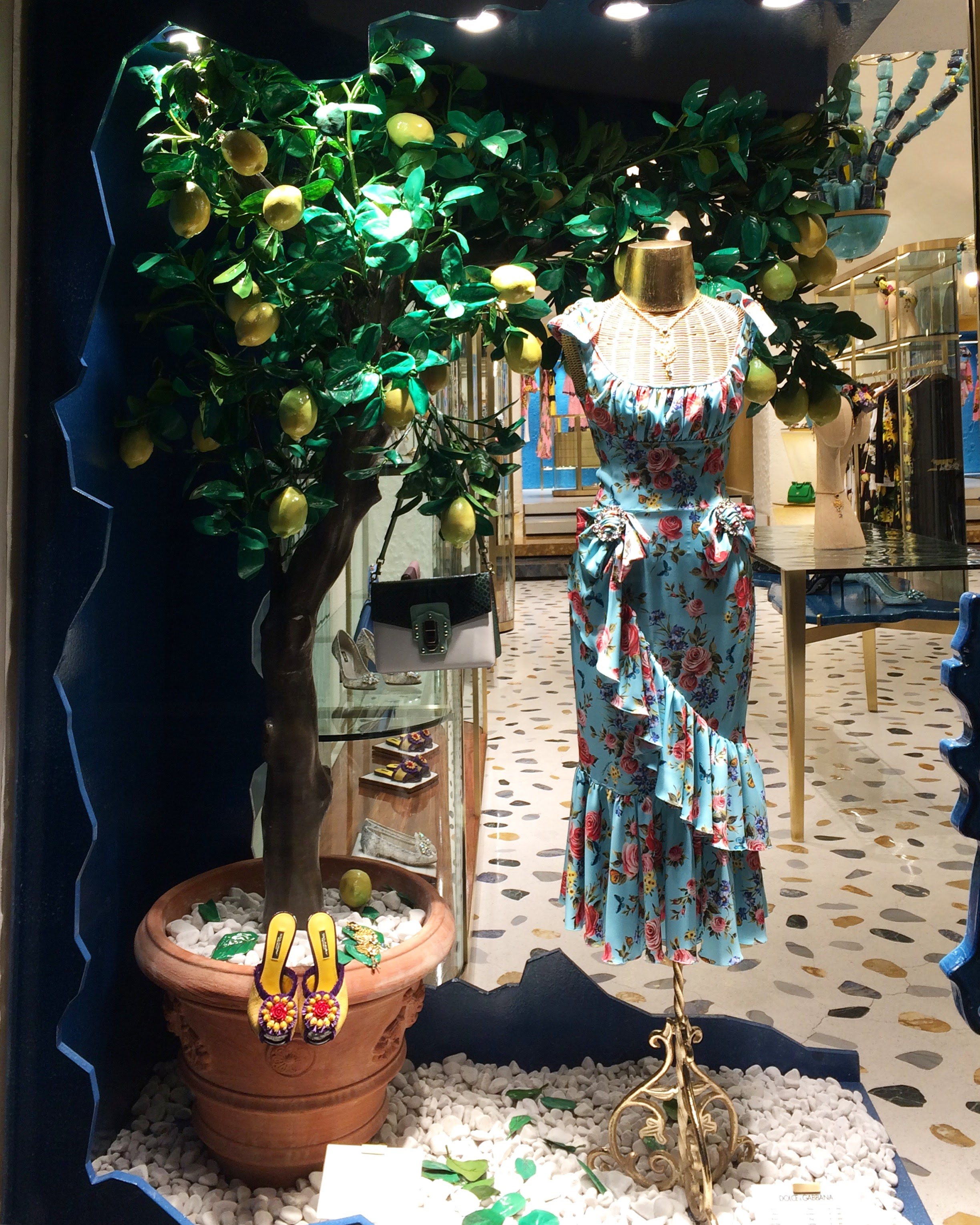 Dolce Gabbana window shop, Capri - Photo: Vibes