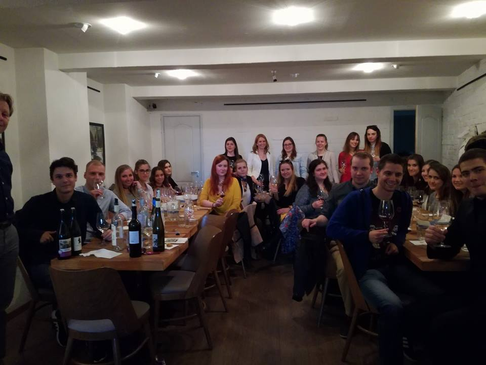 "With students of ""Wine communication"""