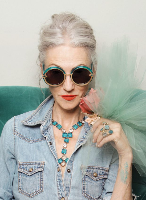 Linda Rodin was one of the older models who featured in Karen Walker's eyewear campaign. Photo: Ari Seth Cohen