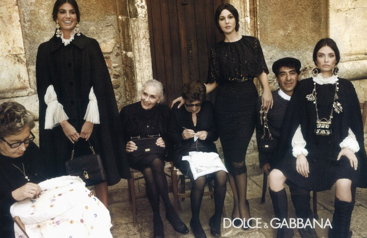 Daphne Selfe in a Dolce and Gabbana campaign.lDaphne Selfe in a Dolce and Gabbana campaign.