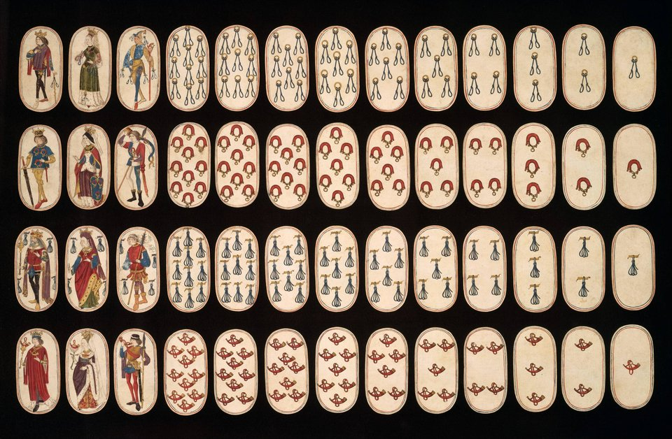 oldest full deck of playing cards The oldest full deck of playing cards known, circa 1470-1480.The Metropolitan Museum of Art